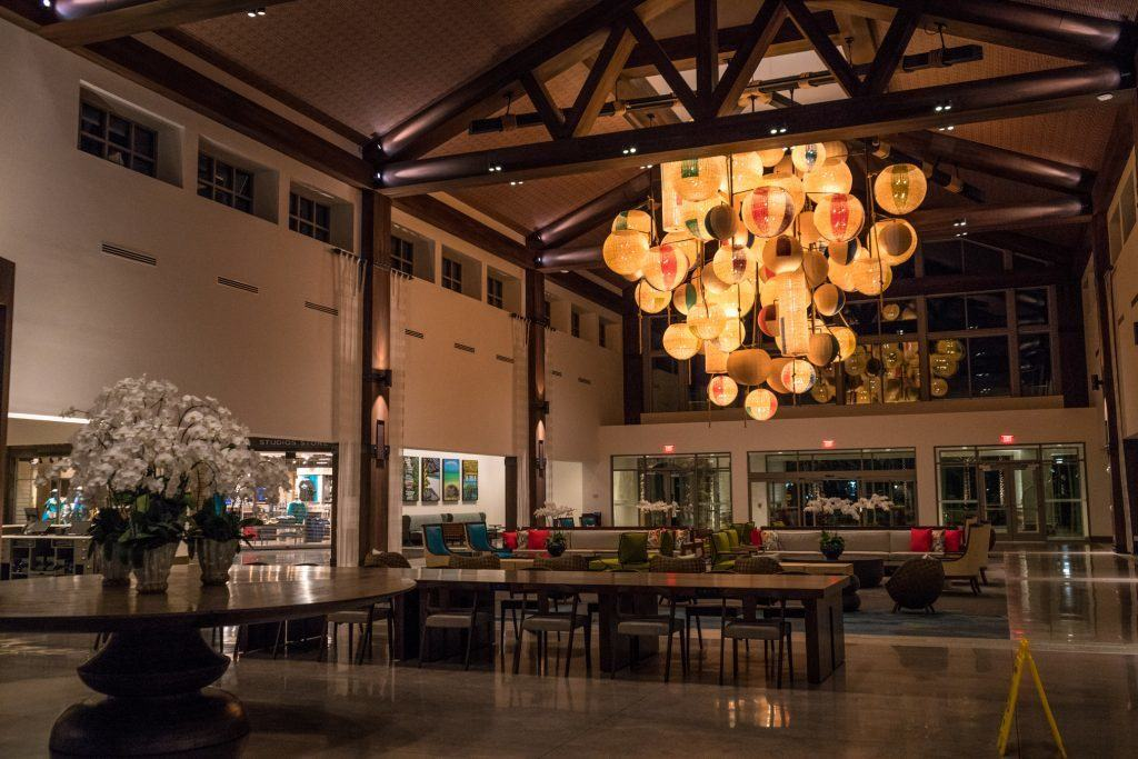 Hotel Lobby in Loews Sapphire Falls Resort at Universal Orlando Resort