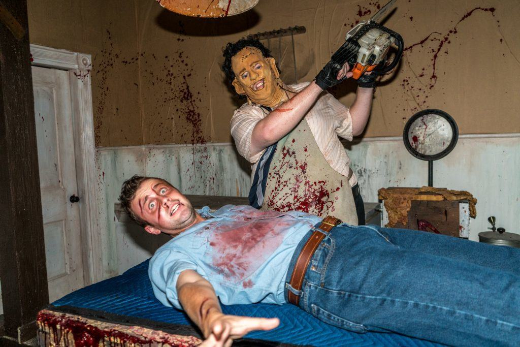 Texas Chainsaw Massacre in Halloween Horror Nights 2016 at Universal Orlando Resort.
