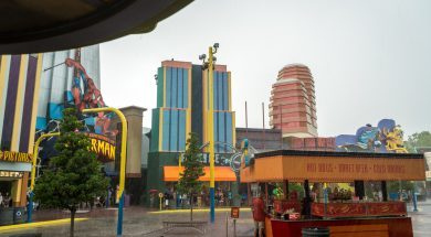 Rain at Universal Orlando Resort