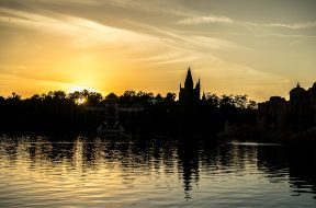 Islands of Adventure at sunset