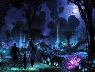 Disney's Pandora - The World of Avatar at nighttime