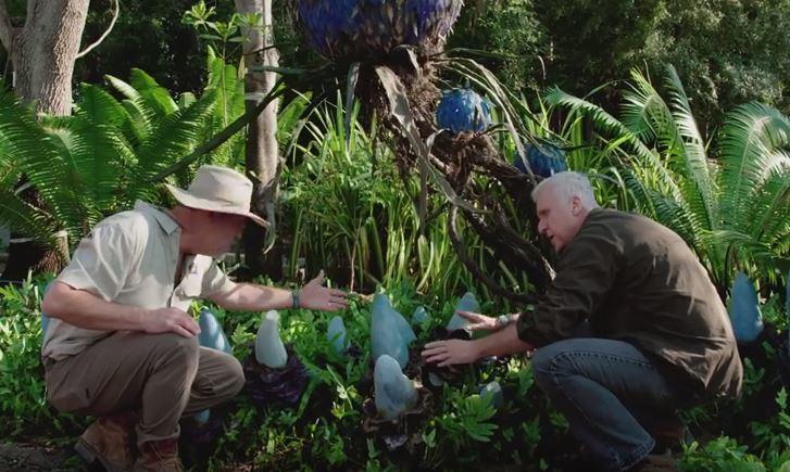 James Cameron inspecting the plantlife of Disney's Pandora - The World of Avatar