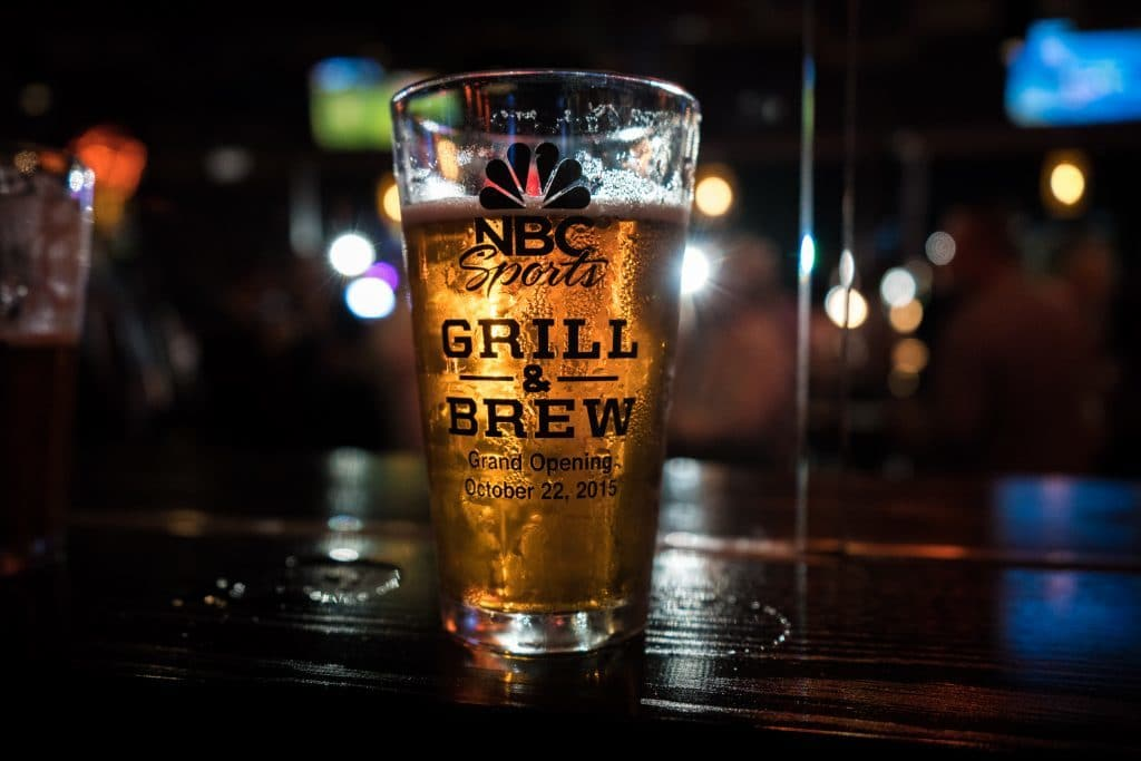 Beer from NBC Sports Grill & Brew at Universal CityWalk