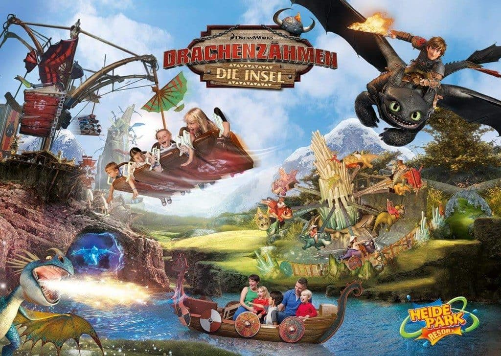 How To Train Your Dragon at Heide Park in Germany