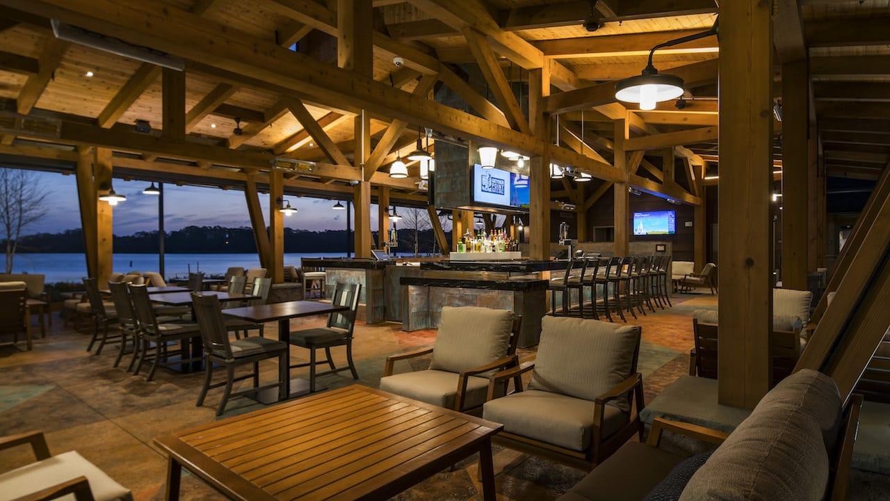 Geyser Point Bar & Grill now open at Disney's Wilderness Lodge at Walt Disney World Resort