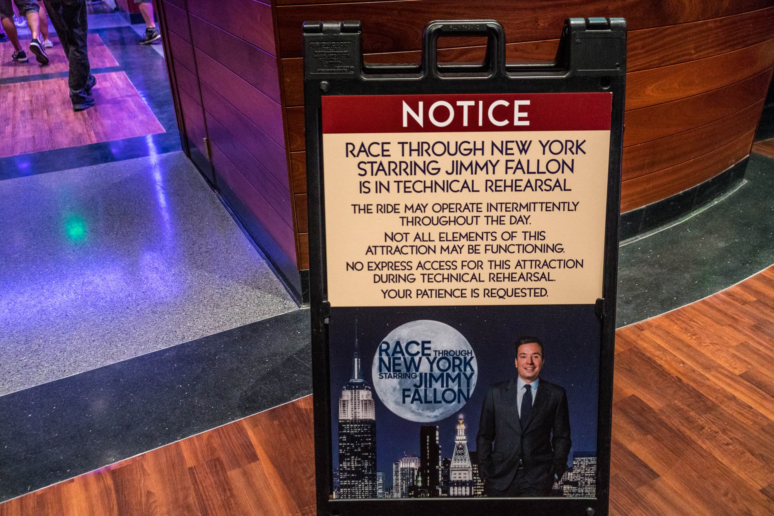 TECHNICAL REHEARSALS: Race Through New York Starring Jimmy Fallon