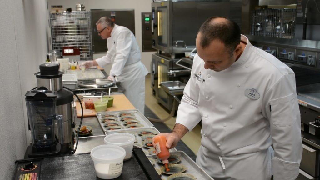 Flavor Lab's industrial kitchen at Walt Disney World Resort