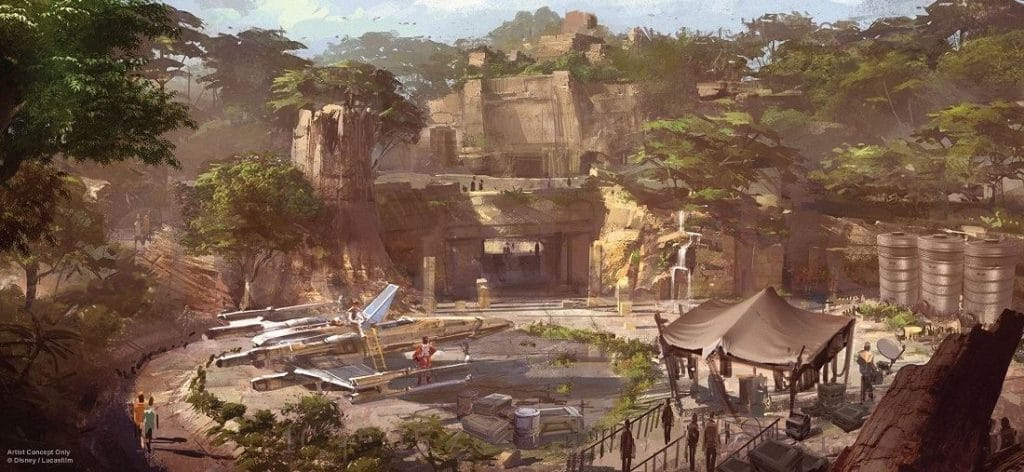 Star Wars Land Artist Concept (Disney/Lucasfilm)