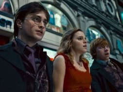 Harry, Ron, and Hermione from Harry Potter and the Deathly Hallows, Part 1