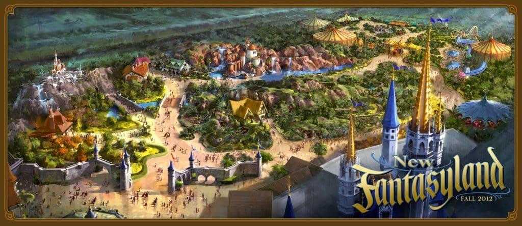 New Fantasyland at Magic Kingdom concept art
