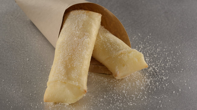 Lumpia, a crispy pineapple-cream cheese spring roll
