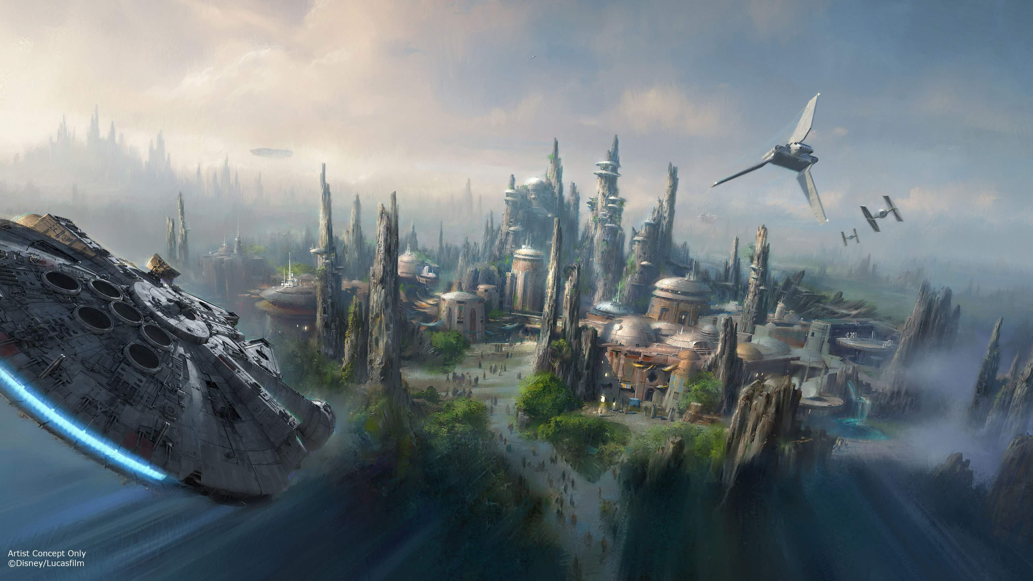 Disney World's Star Wars Land is already shaping up!