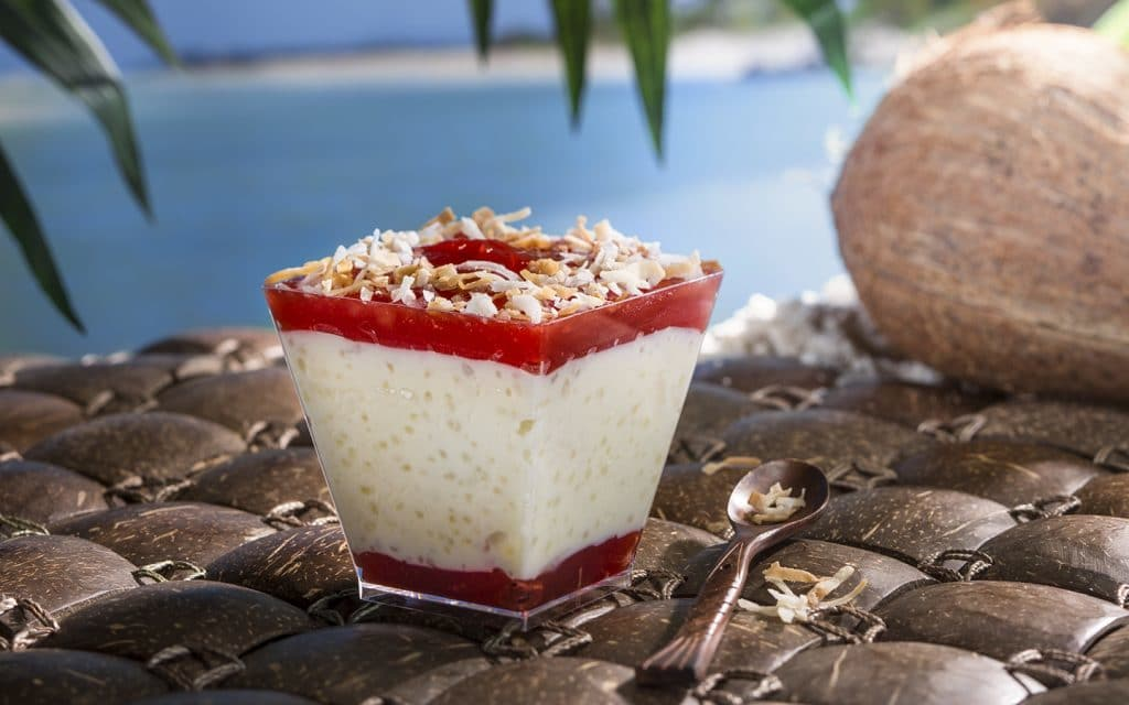 Tapioca pudding at Universal's Volcano Bay