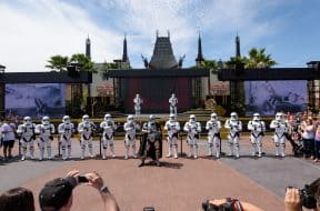 Captain Phasma and her platoon of First Order Stormtroopers during March of the First Order
