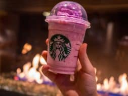 Pink Flamingo Frappuccino at Disney Springs Starbucks