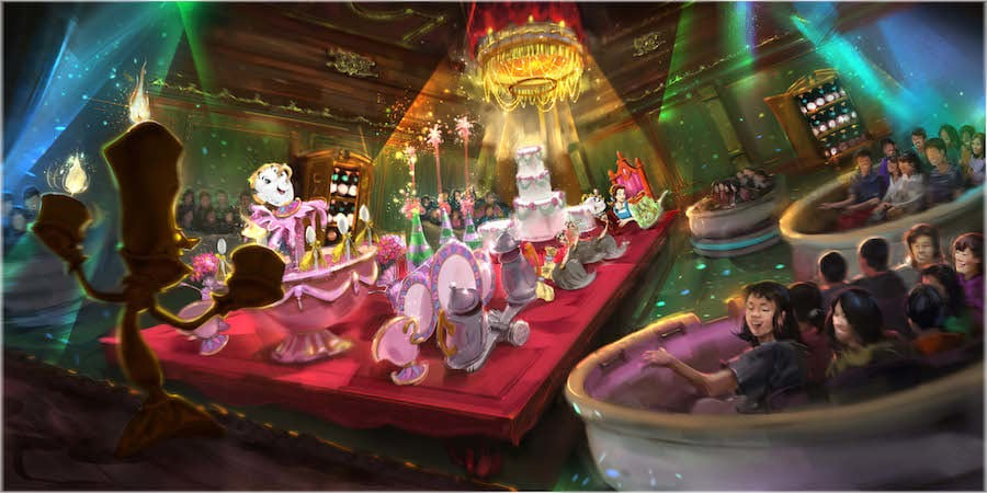 The unnamed Beauty and the Beast attraction coming to Tokyo Disneyland