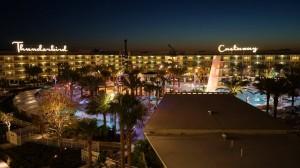 Cabana Bay during Dusk at Universal Orlando Resort