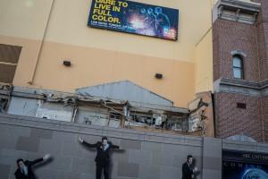 Race Through New York Starring Jimmy Fallon construction - December 28, 2015