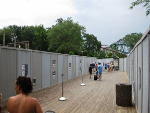 The Wizarding World of Harry Potter Hogsmeade construction at Universal's Islands of Adventure
