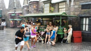 Rainy day at Universal Orlando Resort